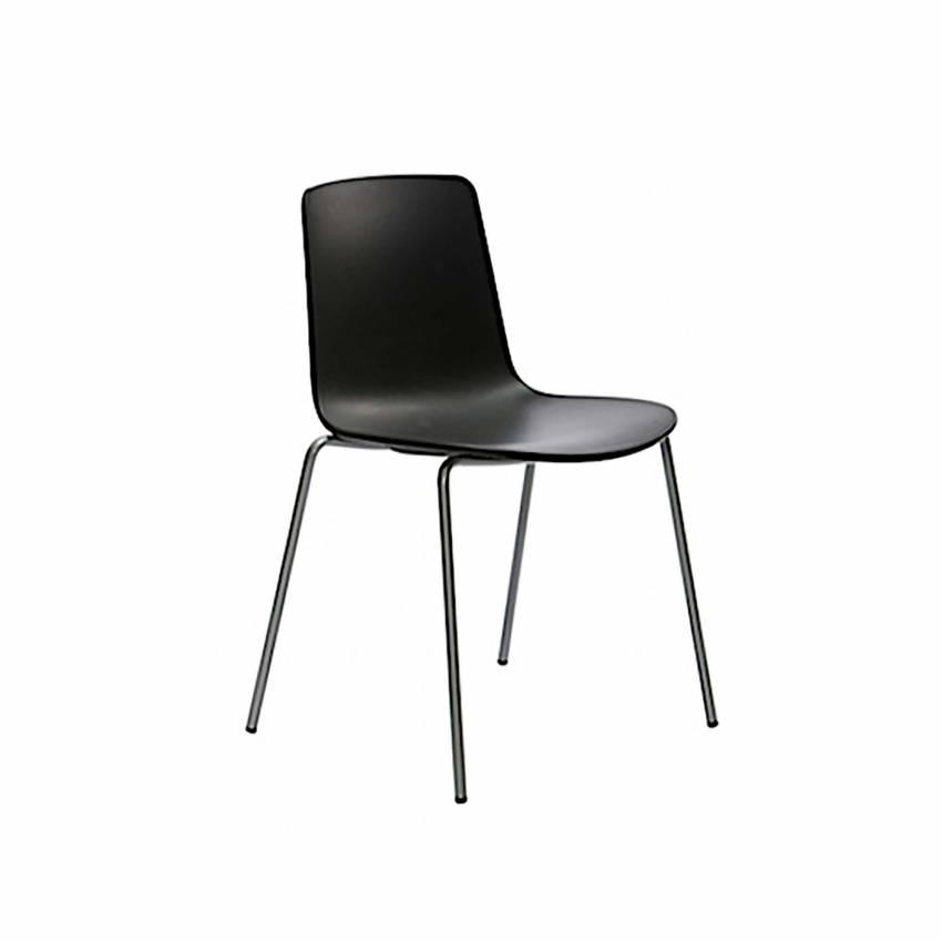 Chaise LOTTUS / H. assise 46 cm / Noir