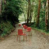 Chaise LOTTUS / H. assise 46 cm / Rouille