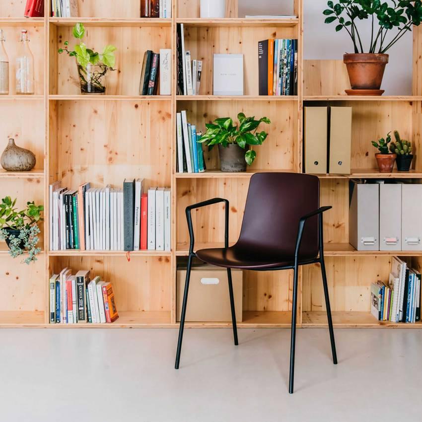 Chaise avec accoudoirs LOTTUS / H. assise 46 cm / 12 coloris