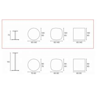 Table LOTTUS / 9 dimensions / Blanc