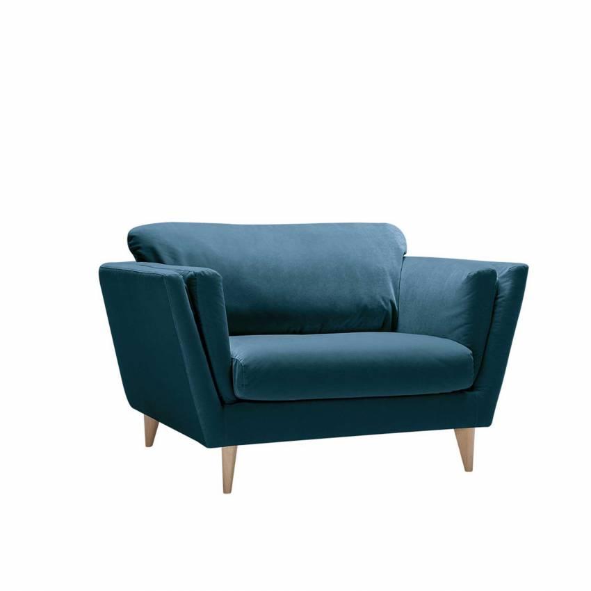 Fauteuil NOVA / L. 1,08 ou 1,28 m / Tissu Silene Bleu