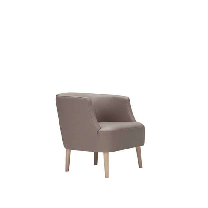 Fauteuil PLAY TUNE / H. 69 cm / Cuir Gris