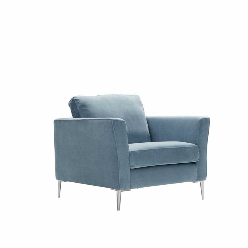 Fauteuil CAPRICE / H. assise 46 cm / Tissu Caleido - Bleu