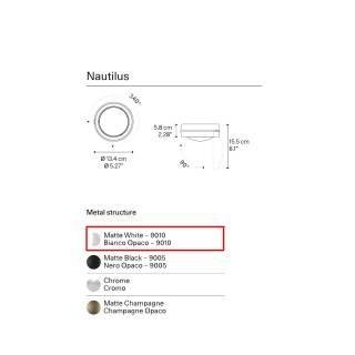 AMELIE Plafonnier LED NAUTILUS / Blanc