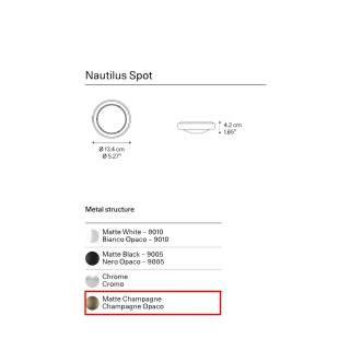 Spot plafonnier NAUTILUS / Champagne / Lodes
