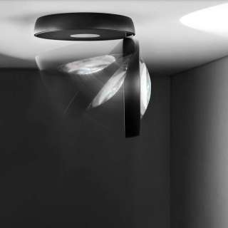 Plafonnier LED NAUTILUS / Noir / Lodes – Studio Italia