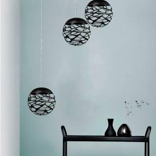 AMELIE Lustres grappes KELLY Cluster / 1 à 36 sphères / Noir