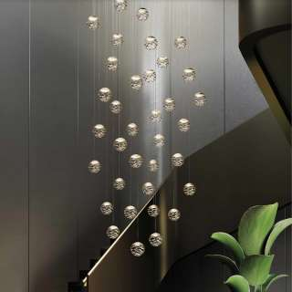AMELIE Lustres grappes KELLY Cluster / 1 à 36 sphères / Champagne