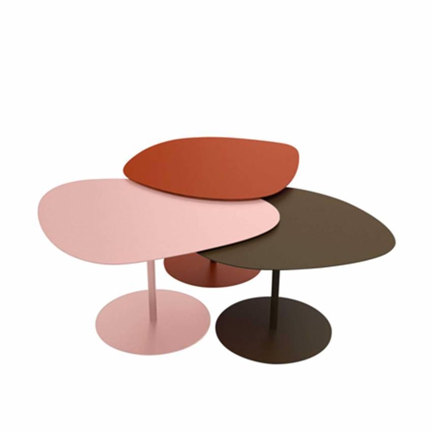 Tables basses GALETS / Extérieur / Brique, Rose, Bordeaux