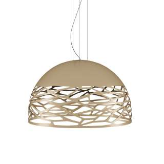 Suspension demi-sphère KELLY L / Champagne / Lodes – Studio Italia