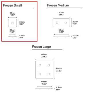 Plafonnier FROZEN Small / Blanc / Lodes – Studio Italia