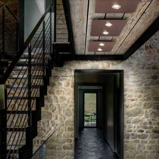 Plafonnier LED FROZEN M / Bronze / Lodes – Studio Italia