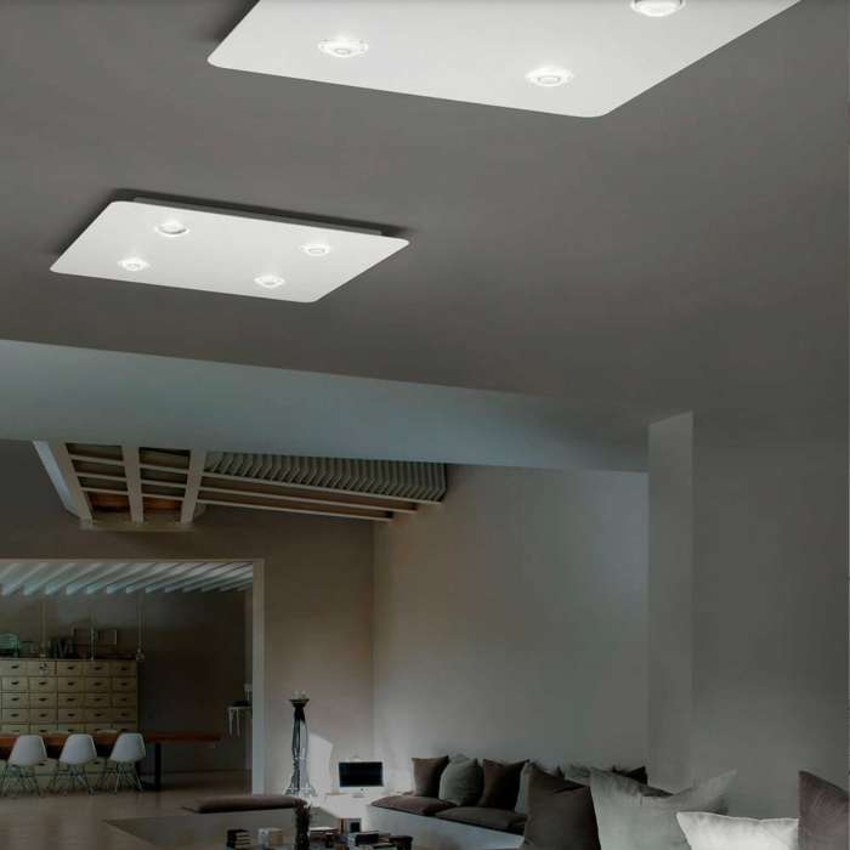 Plafonnier LED FROZEN Large / Blanc / Lodes – Studio Italia