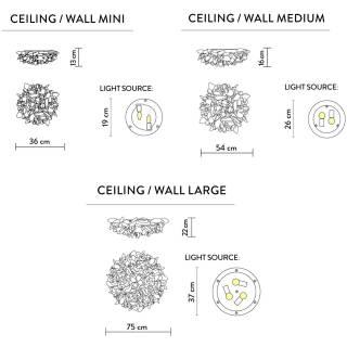Applique murale ou plafonnier VELI / Opal / SLAMP