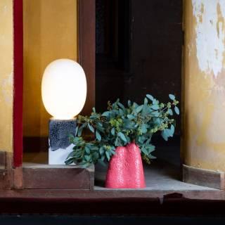 Lampe en verre MAGMA ONE HIGH / Blanc - Base Blanc / Pulpo