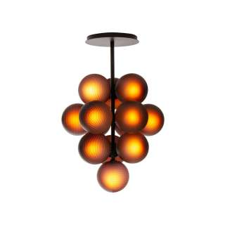 Suspension STELLAR GRAPE SMALL en verre / Aubergine / Pulpo