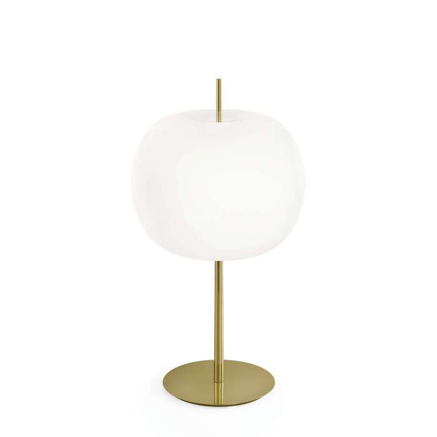 Lampe à poser KUSHI XL en verre / Laiton / Kundalini