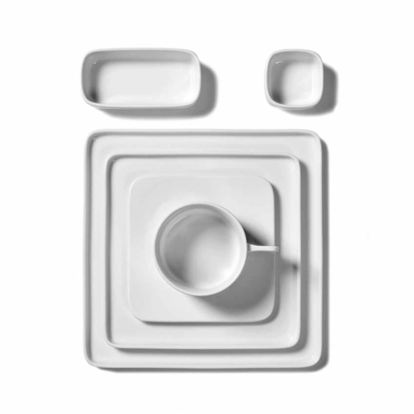 Assiette carrée en porcelaine HEII L / Blanc / Serax