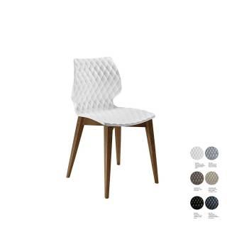 Chaise de salle à manger UNI 562 / Blanc – Bois / Et al.