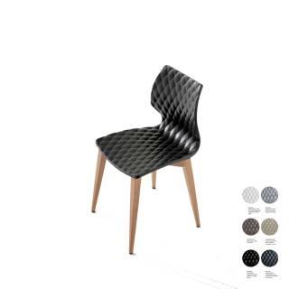 Chaise de cuisine UNI 562 / Noir – Bois / Et al.