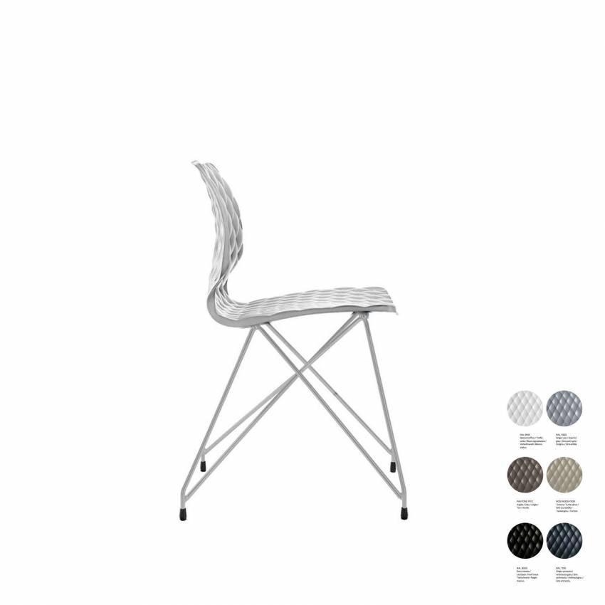 Chaise de bureau UNI 553 / Blanc / Et al.