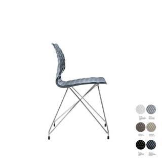 Chaise de bureau UNI 553 / Gris - Chrome / Et al.