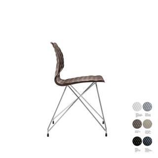 Chaise de bureau UNI 553 / Marron - Chrome / Et al.