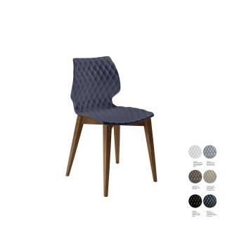 Chaise UNI 562 – Salon / Anthracite –Bois / Et al.