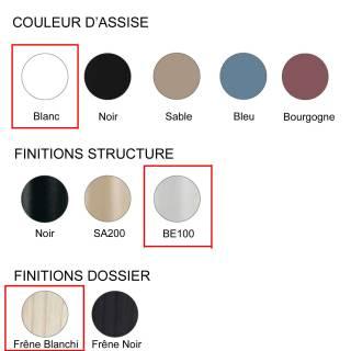 Chaise FOX 3726 Salon / Blanc - Frêne - Métal / Pedrali