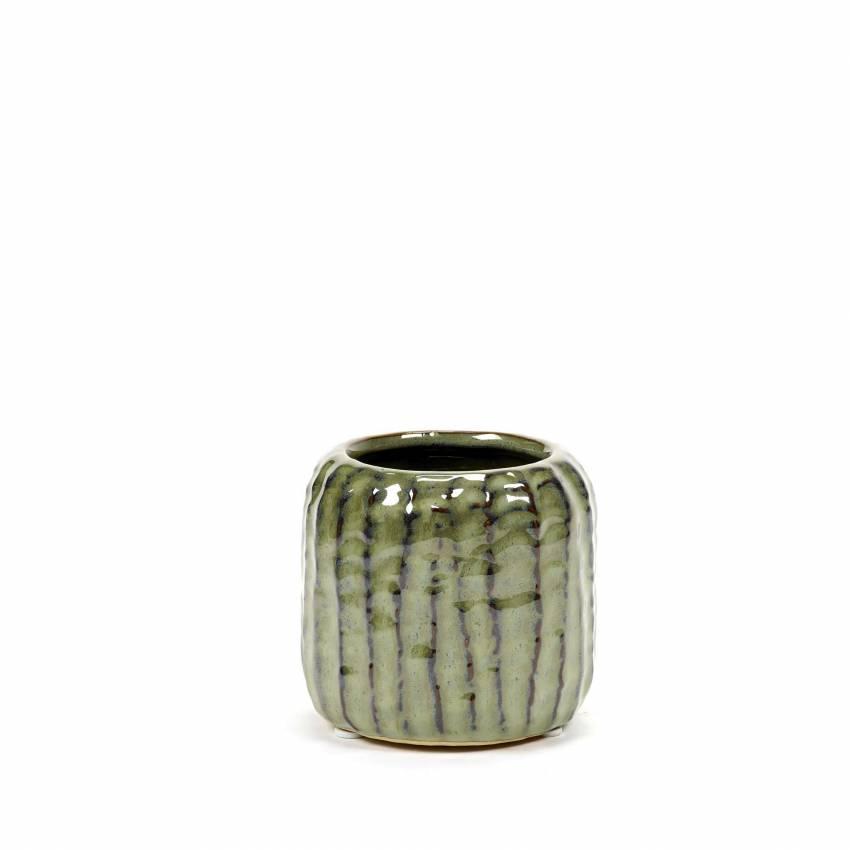 Cache-pot de fleurs en céramique COTE / Vert / Serax