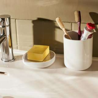 Pot pour brosses à dents BIRILLO / PMMA Blanc / Alessi