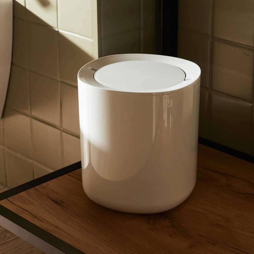 Poubelle de salle de bain BIRILLO / PMMA Blanc / Alessi