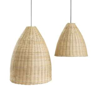 Abat-jour de suspension BELL / Lot de 2 / Rotin Naturel
