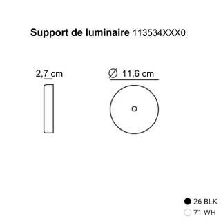 Support de luminaire -Suspension / Blanc-Noir / Estiluz