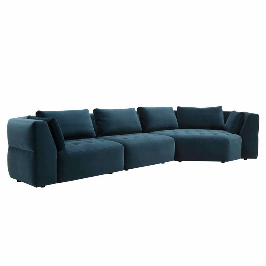 Canapé modulaire CLEO / Velours Bleu / Sits