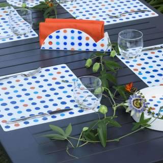 Set de table POIS FANTASY / Bleu / 34 x 32 cm