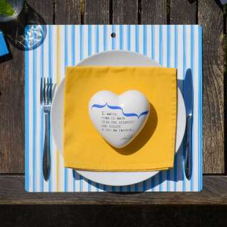 Set de table THIN AZURE STRIPES / Bleu / 34 x 32 cm