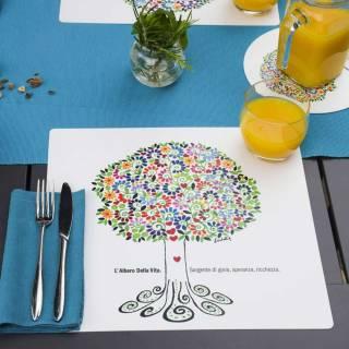 Set de table TREE OF LIFE / Multicolore / 34 x 32 cm