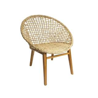 Chaise CHECKER pour le salon / Bois Naturel & Coton