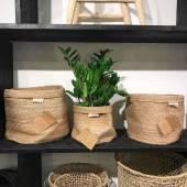 Corbeille décorative ROND / Lot de 3 dimensions / Jute