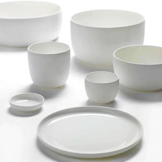 Assiette plate BASE / Porcelaine Blanche / Serax
