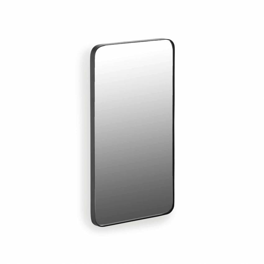 Miroir rectangulaire E - 40 cm / Acier Noir / Serax