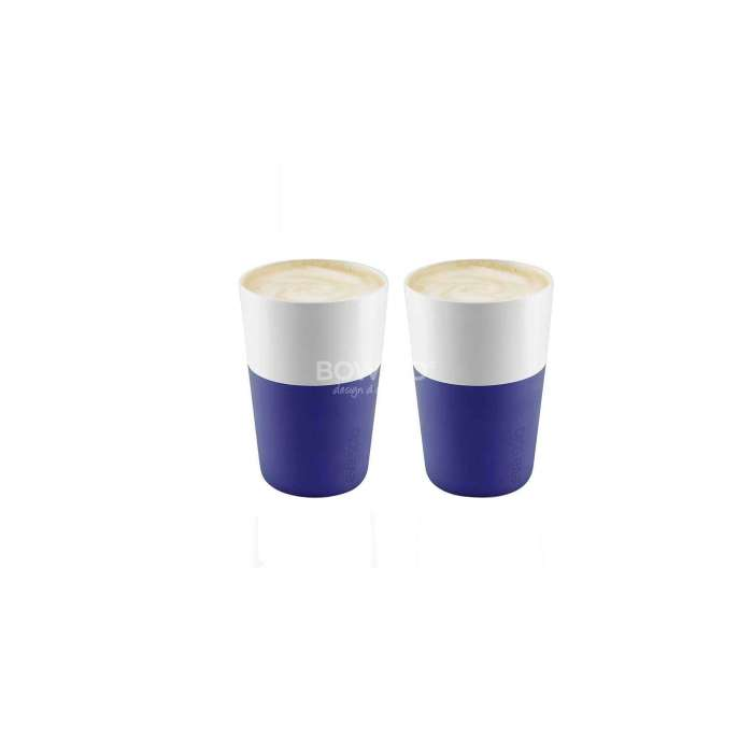 Mug Café latte / Lot de 2 en Bleu électrique