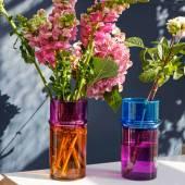 Vase MOROCCAN / H. 20,5 cm / Orange & Rose / Verre Recyclé