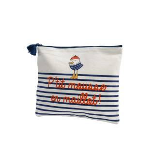 Sac de piscine MOUETTE - P. 25 cm / Coton Blanc