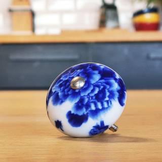 Poignée L'INCROYABLE COCOTTE / Ø. 4 cm / Céramique Bleue