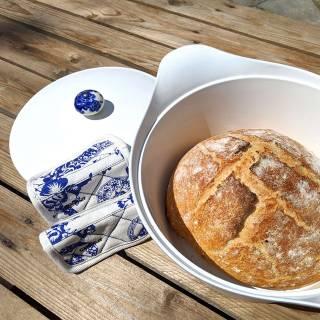 Manique INCROYABLE COCOTTE / Blanc - Bleu / Cookut