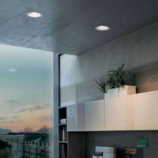 Plafonnier OUTLOOK C - LED / Aluminium - Verre / Blanc