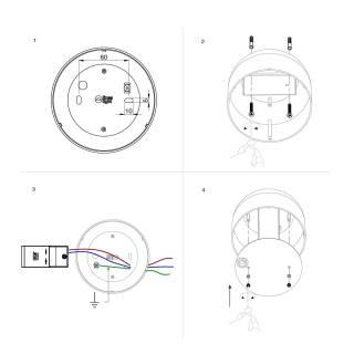 Plafonnier OUTLOOK S avec LED / Aluminium Blanc