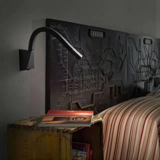 Applique murale SNAKE W3 - LED / Aluminium Noir